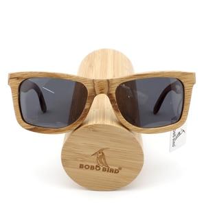 Image 4 - ボボ鳥の木のサングラスブランドのデザイナー茶色の木製サングラススタイル正方形サングラスmasculinoドロップシッピングのoem