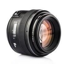 YONGNUO yn85mm F1.8 большой апертурой AF/MF фокус Стандартный Средний премьер фиксированной телеобъектив для Canon EF крепление Rebel зеркальные фотокамеры