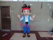 Jake Mascot Costume Adult Character and the Neverland Pirates free shipping