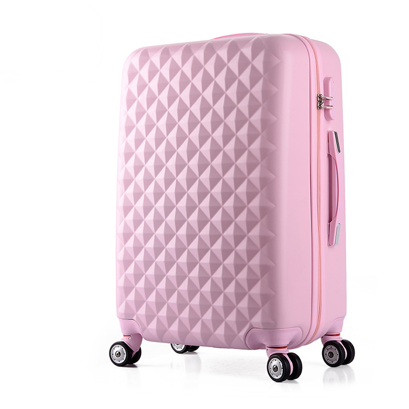 Wholesale!26inches abs+pc hardside travel luaggage bags on universal wheels,female pink green blue yellow purple trolley luggage