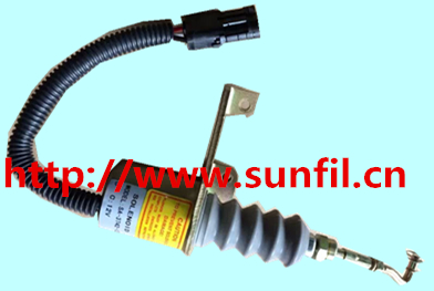 NEW Fuel Shutdown solenoid 3932017 SA-3742-12 for RSV Stop Ssolenoid 3924450 2001es 12 fuel shutdown solenoid valve for cummins hitachi