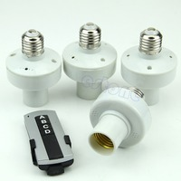 TCAM 4Pcs E27 Wireless Remote Control Light Lamp Bulb Holder Cap Socket Switch Y122