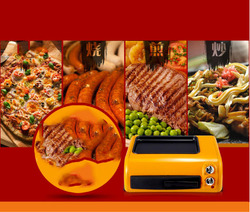 Baking Oven Home pizza baker 15L baking box frying Machine Overheating protection compact fryer