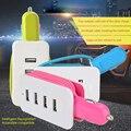 4-USB Multi Puertos Adaptador de Chip Inteligente 5 V 4.3A Cargador de Coche Cable adaptador de corriente inicio viaje para tablet mp3/mp4 iphone 6 6 s samsuang