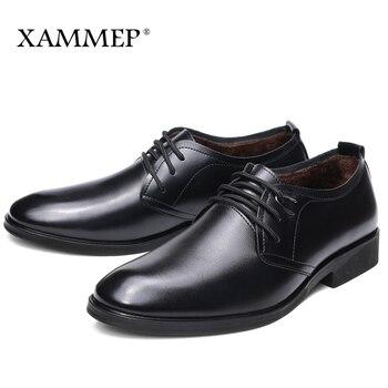 Мужская повседневная обувь, брендовая кожаная мужская обувь, мужская зимняя обувь на плоской подошве, мужские кроссовки, Кожаные Деловые ту...