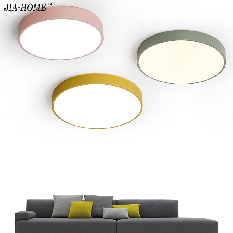 Ceiling Lights For Living Room Bedroom pink green yellow color in round shape Lighting Ceiling Lamp Fixture corridor Home Decor