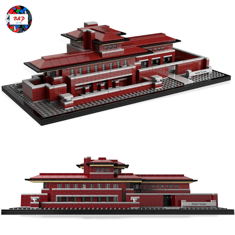 Genuine Architect Series The Robie House LEPIN 17007 2326pcs Model Building Block Bricks Toys For children Legoing 21010 Gift lepin 21010 super race formula f1 racing container truck model building kits block 914pcs bricks toys gift for children 75913