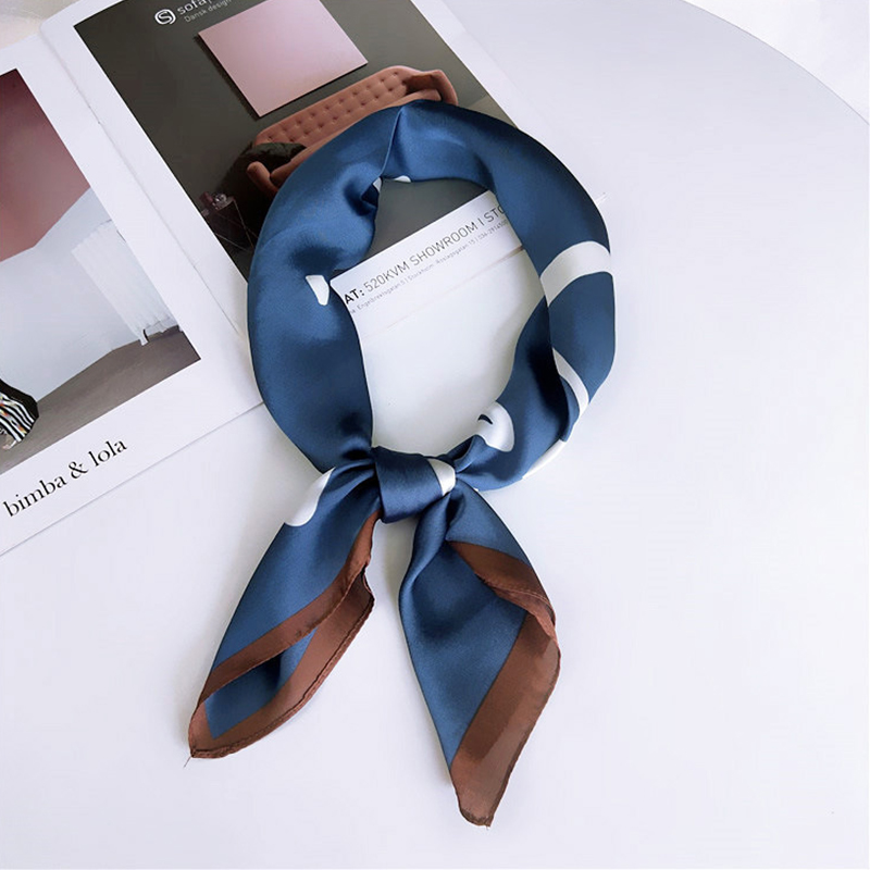 70 70Cm Fashion Women Square Satin Scarf Wild Wraps Elegant Printing Head Foulard Neck Scarves Hair Tie Band Neckerchief Scarf in Women 39 s Scarves from Apparel Accessories