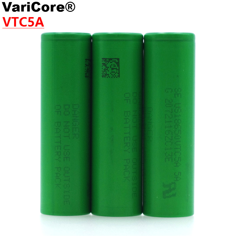 VariCore VTC5A 2600mAh 18650 Lithium Battery 30A Discharge for Sony US18650VTC5A Electronic Cigarette ues