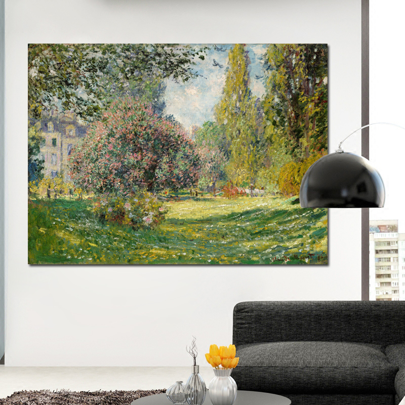 Claude Monet Peisaj Pictura pe panza Poster Print Impressionist Wall Art Imagini pentru camera de zi Home Decor Unframed