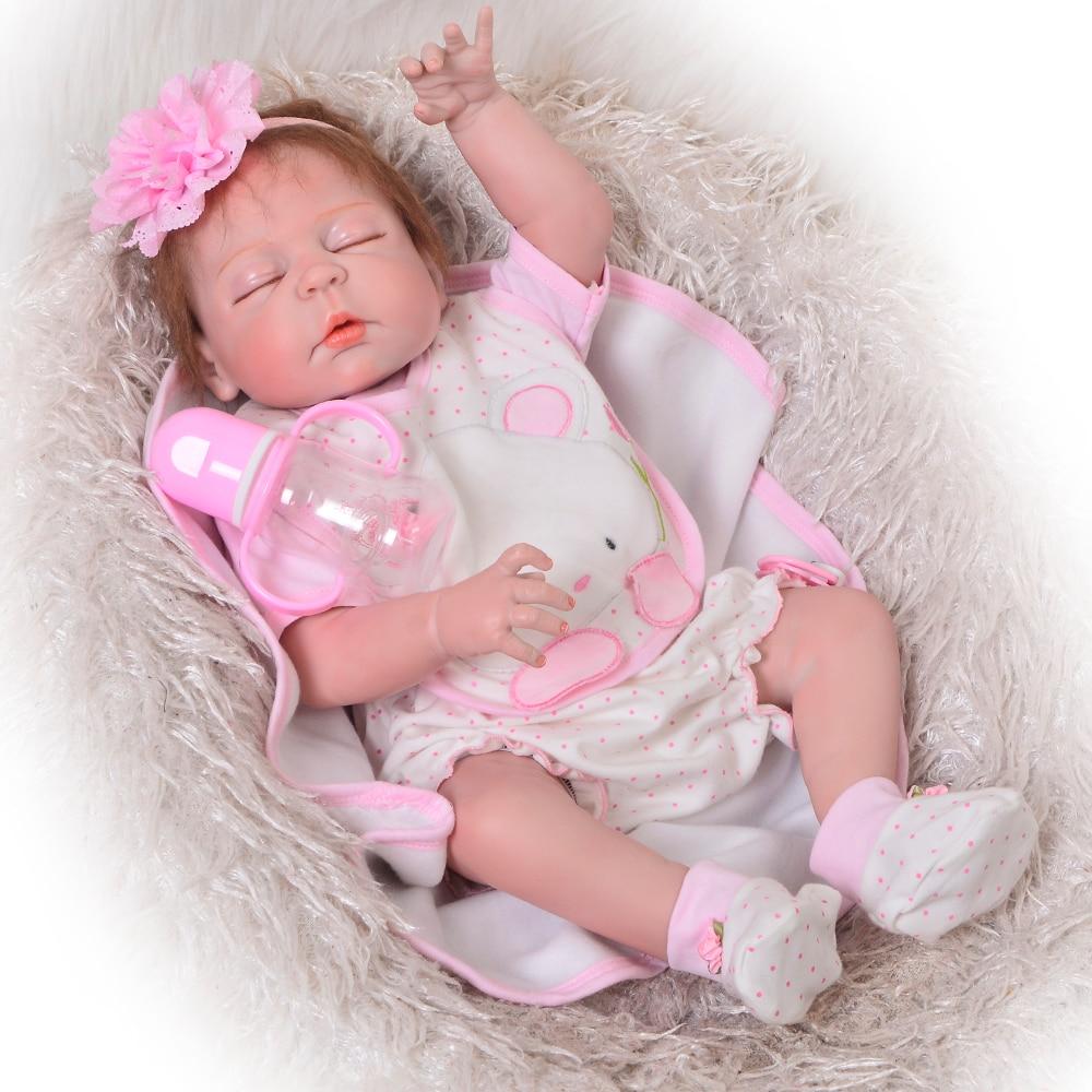 Xmas Gift 23/'/' Reborn Dolls Full Body Silicone Newborn Baby Girls Toy Infant Fun