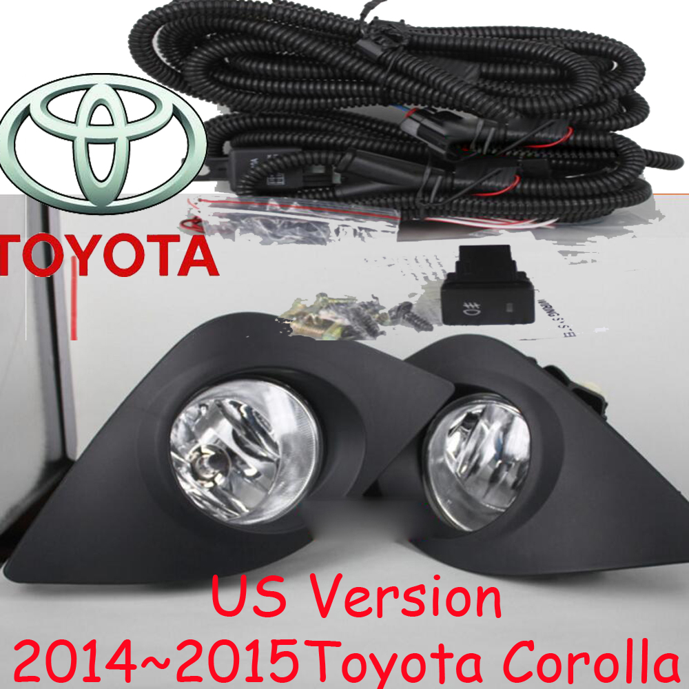 US Version! Corolla fog light,2014~2015,2pcs/set+wire of harness,Corolla halogen light,Free ship! Corolla headlight; Corolla 2011 2013 golf6 fog light 2pcs set wire of harness golf6 halogen light 4300k free ship golf6 headlight golf 6