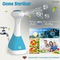 Esterilizador de ozônio portátil Gerador de Ozônio máquina de lavar Frutas Legumes alimentos Esterilizador Ozonizador O3 Desinfecção desinfetante de mão Pet