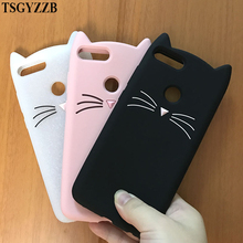 Phone Cases For Huawei Honor 7X Cover Animal Cat 3D Cartoon Cute Protective Soft TPU Back Silicone Case Beard Smile
