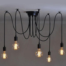 Simple pendant lamps new modern lights E27 lamp holder white fabric wire hanging line for club coffe bars(China)