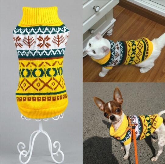 Online-Shop Neue Snow Warme Strickwaren Katze Pullover Pet Jumper ...