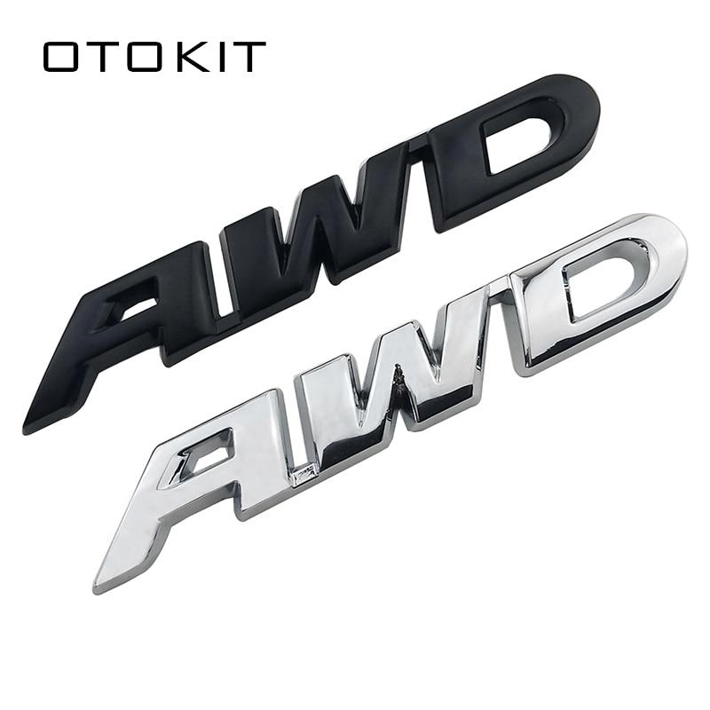 3D Car Styling Chrome Metal Sticker AWD Tail Emblem Badge Rear Decal Logo for Toyota Impreza Subaru Honda 4X4 Off Road SUV 4WD