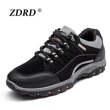 New Arrival Suede Leather Men Shoes Comfortable Men Casual Shoes Fashion Walking Shoes Mens Wear-resistant Outdoor Lace-up Shoe