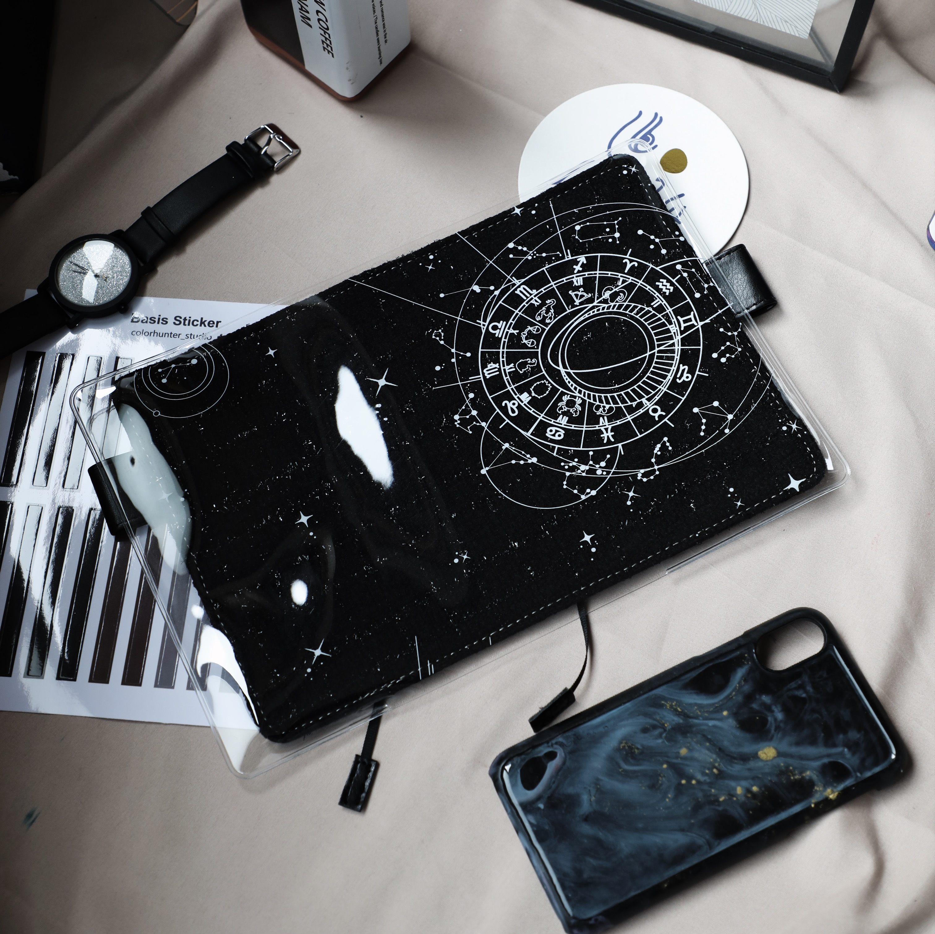 The Universe Creative Cool Design PVC Cover For Hobonichi Journal  A5 A6