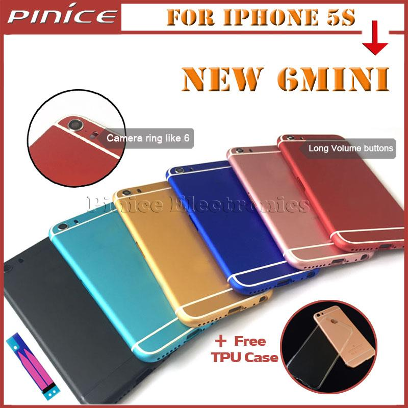 New For iPhone 6 mini Back font b Housing b font Metal Middle Frame Battery Cover