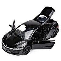 Mnotht 1 32 Scale Honda Acura NSX Mini Pull Back Sounds Lights Diecast Car Model Toys