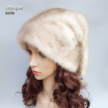 New autumn winter women lady girls real Mink fur hat noble warm Christmas gift natural mink fur pompom hats cap Skullies Beanies 2016 hot selling lady s the new mink fur mink hat knit cap children winter thickening warm winter hat free shipping 3color sd21