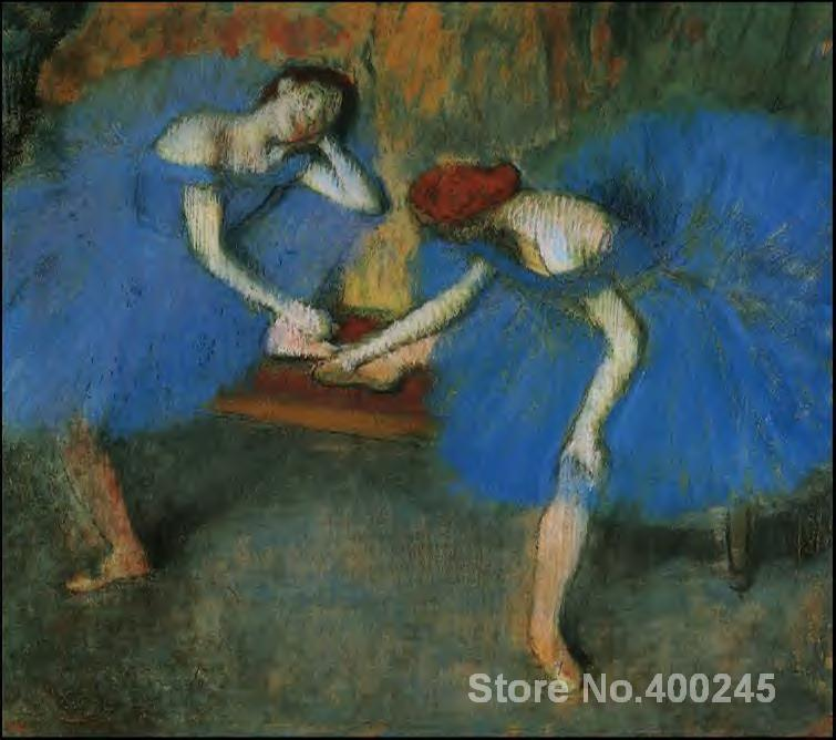 wall art Two Dancers in Blue Edgar Degas Paintings Hand painted High qualitywall art Two Dancers in Blue Edgar Degas Paintings Hand painted High quality