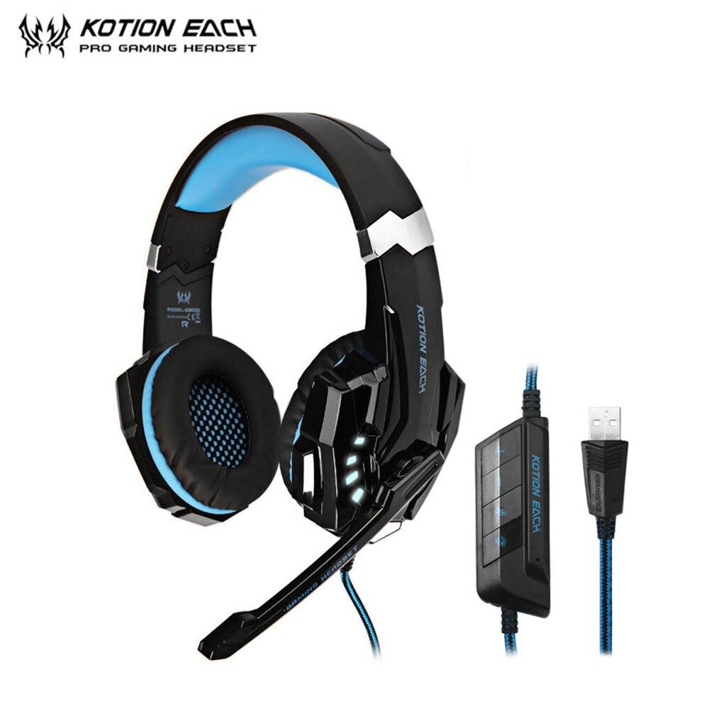 Offerte KOTION OGNI G9000 Gaming Cuffie 7.1 Surround USB di Vibrazione  Gioco Headset Cuffia Della Fascia Con Il Mic HA CONDOTTO La Luce Per PC  Gamer ... 7c6fb9a10a90