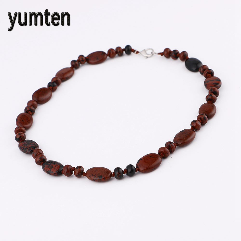 Yumten Golden Swan Stone Necklace Power Natural Water Droplets Crystal Men Jewelry Women ...