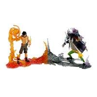2pcs/set 16CM Anime One Piece New World Ace Action Figure DXF The Rival vs Portgas D Ace Marshall D Teach 5th Anniversary Toys