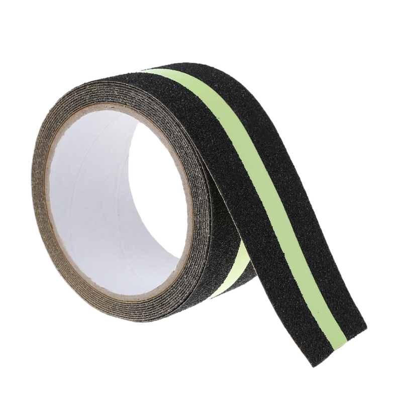 5CMx5M Floor Safety Luminous Non Skid Tape Anti Slip Adhesive Stickers High Grip bike bicycle anti skid non slip handlebar tape belt wrap w bar plug camouflage black white