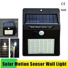 цена на LED Solar Power PIR Motion Sensor Wall Light 20/30 LEDs Outdoor Waterproof Energy Saving Street Garden Yard Security Solar Lamp