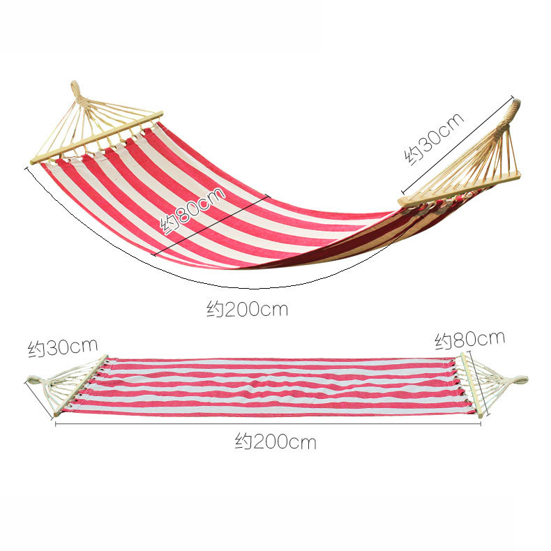 Outdoor Hiking Camping Hammock Widened Color Outdoor Leisure Hammock Striped AT6735