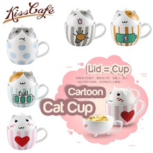 300ml Drinking Caroon Coffee Mug Ceramic Cup Cafe Oatmeal Glaze Milk Water Tea Mugs Drinkware Fashion Couple