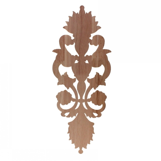 Solid wood European Style Woodcarving Decal Home Furniture Carved Applique Window Door Decor Wooden Figurines Crafts 6