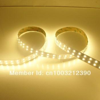 Tiras LED flexibles de doble fila 120 LEDs por metro 20 no impermeables con un metro DC 12 V regulable SMD5050 mm de ancho 1800lm por metro