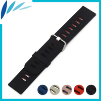 Silicone Rubber Watch Band 22mm for Seiko Watchband Strap Wrist Loop Belt Bracelet Black Blue Red + Tool + Spring Bar