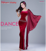 Bifurcationr Belly Dance Colthes Women Dance dress For Girls Ballroom Dance Costumes Velvet Sexy luxury Dress For Women