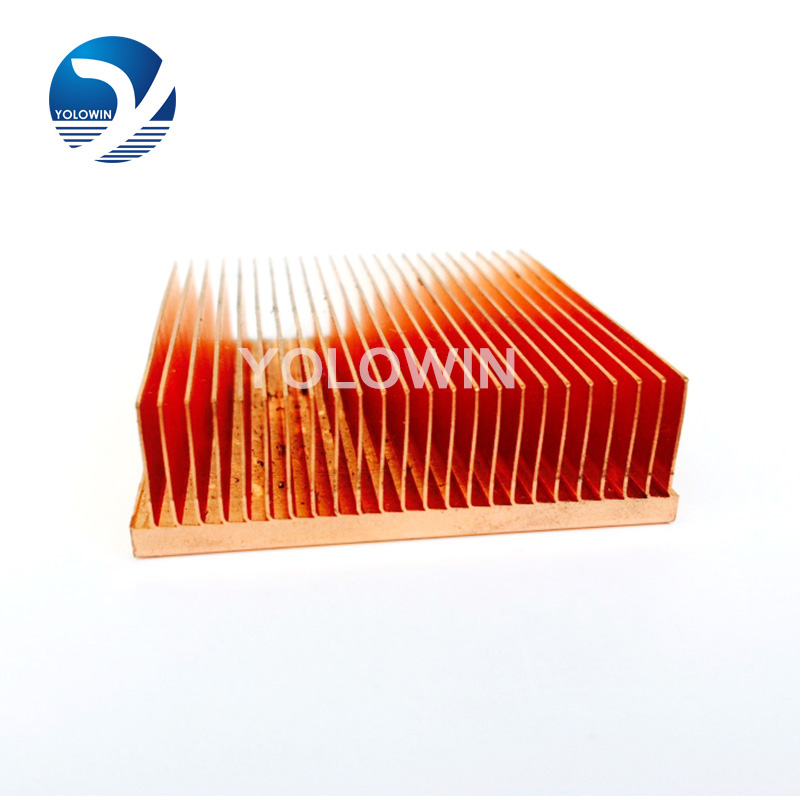 High Quality Electronic heat sinks heat sink power Sink Radiator for CPU Copper heatsink (skiving fin) YL-0038