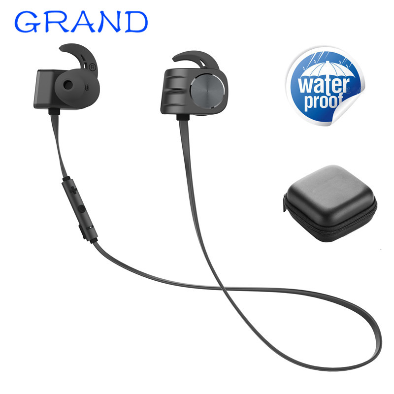 New BX338 Wireless Bluetooth Earphone IPX5 waterproof Portable HIFI bass stereo High-end sport with mic Headset GRAND g500 aluminum alloy housing pointed end flat cable 3 5mm audio jack powerful bass stereo hifi earphone with mic