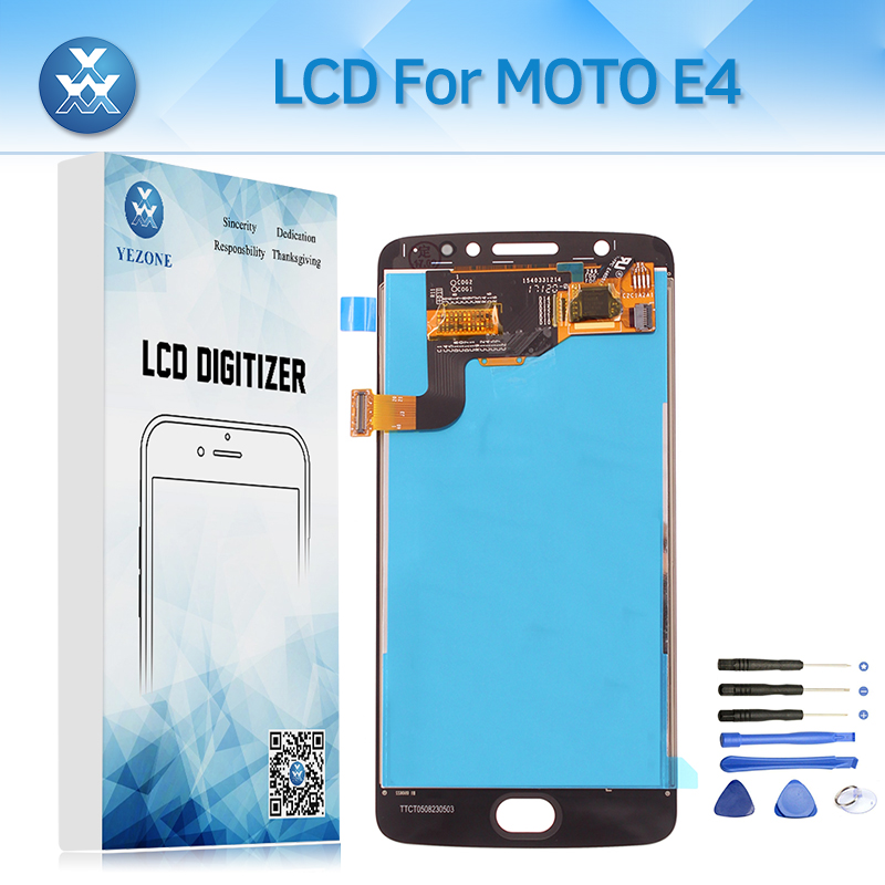For Motorola Moto E4 XT1762 XT1772 Lcd Display Touch Screen Digitizer Assembly 5.0 inch Panel Mobile Lcd Replacement Tools