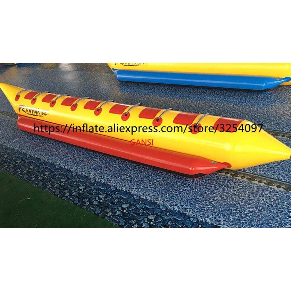 Summer aqua sport 8 seats inflatable flying water towable, inflatable floating banana boat for sea games