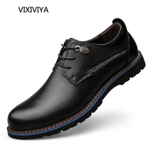 2018 جديد أحذية رجالية جلد طبيعي الصلبة العمل في المناطق الحضرية الشباب عارضة الأحذية أربعة الموسم الأسود والبني أزياء الرجال حذاء حجم 37-47