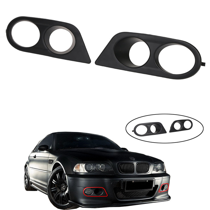 2x Front Bumper Fog Light Covers Case Outshell for BMW E46 M3 2001-2006 51112695255 / 51112695256 Car Styling //
