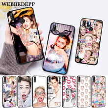 WEBBEDEPP Miley Cyrus Soft Rubber Silicone Case for Huawei P8 Lite 2015 2017 P9 2016 Mimi P10 P20 Pro P Smart 2019 P30