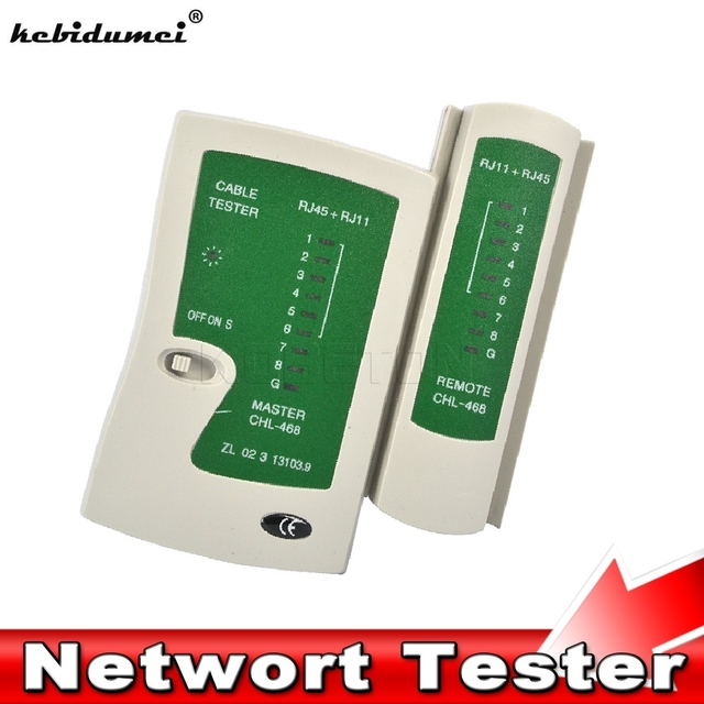 Kebidumeiプロフェッショナルネットワークケーブルテスターrj45 rj11 rj12 cat5 utp lanケーブルテスター検出器リモートテストツールネットワーク