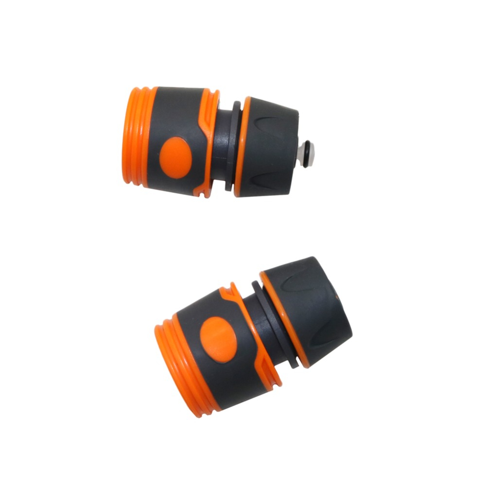 1/2 Inch Hose Quick Connector, Waterstop Connector Durable Water Sprinkle Pipe Adaptor Garden Tap Hose Pipe Fitting 2 Pcs