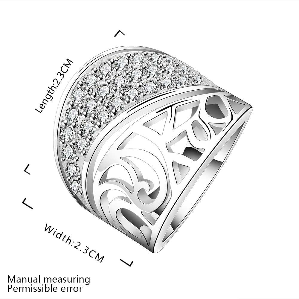 Wholesale Free Shipping silver plated Ring,silver plated Fashion Jewelry house under love Ring SMTR612