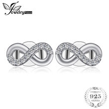024f2977ac2b Joyería Palacio 925 pendientes de plata de ley infinito amor cúbico  Zirconia pendientes joyería nupcial regalos de aniversario p.