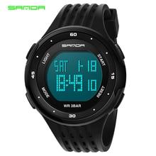 Sanda Модные мужские водонепроницаемые 30 м спортивные забавные цифровые наручные часы для плавания Reloj Hombre Simple Montre Homme